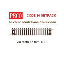 Vía recta 87 mm. ST-1 (Peco...