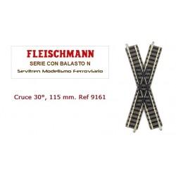 Cruce 30°, 115 mm. Ref 9161...