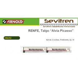 "Talgo Renfe ""Alvia-Picasso"" Set 2 vagones - Arnold HN4292"