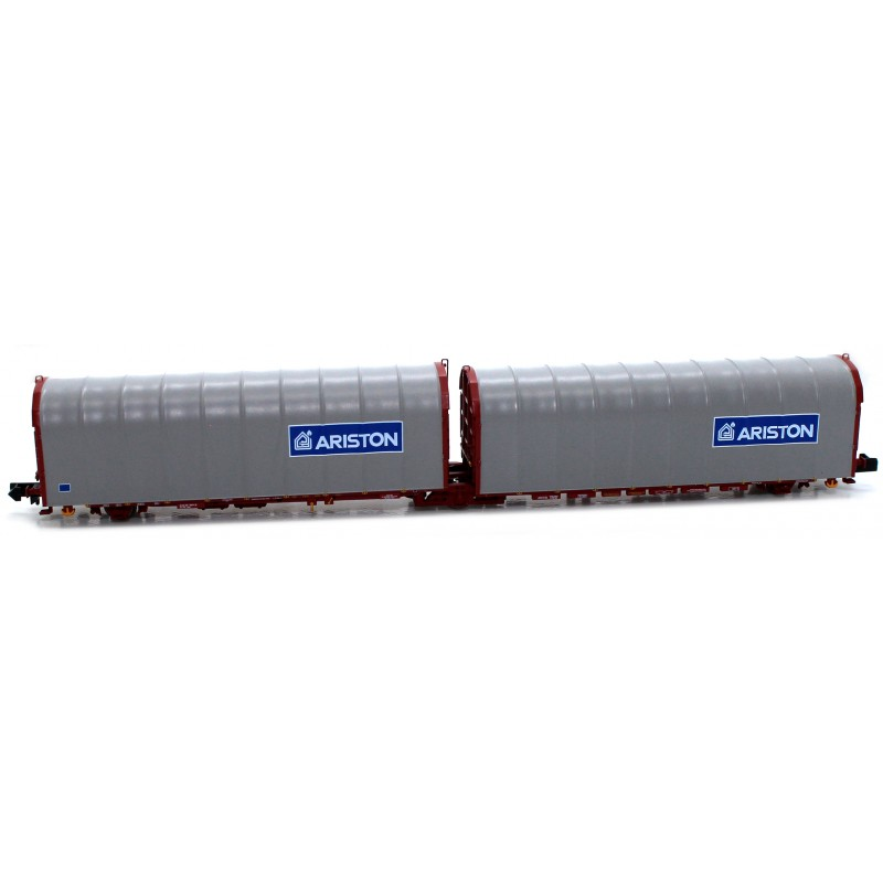 "Double Canvas Platform 3 axles ""Lails"" - Ariston / Ariston FS - Mftrain N33071"
