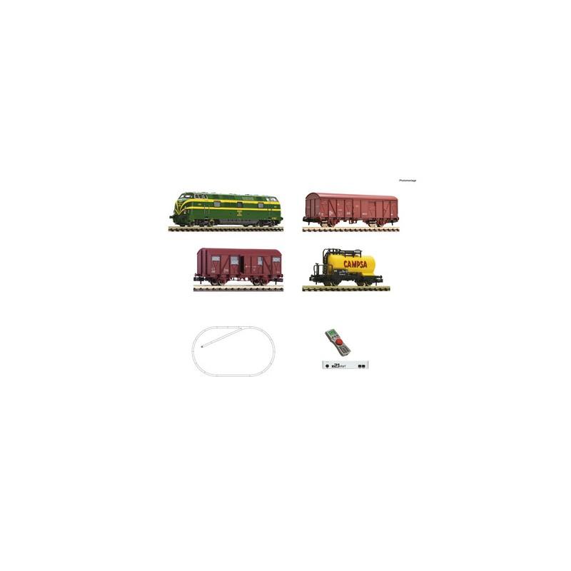 Digital Starter Set z21: Diesel locomotive class 340 and goods train, RENFE - Fleischmann 931894
