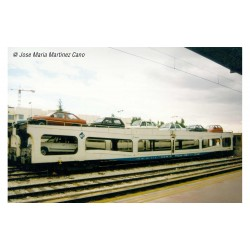 RENFE, 2-unit set DDMA autotransporter, white livery, period V - Arnold HN4351