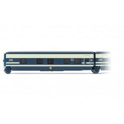 RENFE, Trenhotel Talgo, sleeping coach with door on the left side in original blue/beige livery, period IV- Electrotren E3360