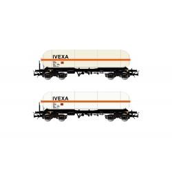 RENFE, 2 unit pack  4-axle gas tank wagon type Zags IVEXA- Electrotren HE6002