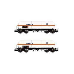 RENFE, 2 unit pack  4-axle gas tank wagon type Zags SALTRA- Electrotren HE6003