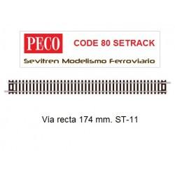 ST-11 Double Straight (Peco Code 80 Setrack)