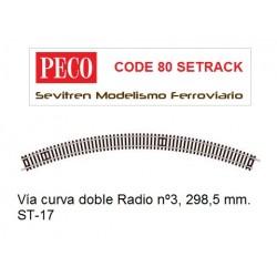 ST-17 Double Curve, 3rd Radius (Peco Code 80 Setrack)