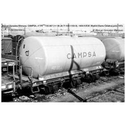 RENFE, 2-unit set 3-axle tank wagon, Campsa livery, period III, 70th anniversary - Electrotren HE6023
