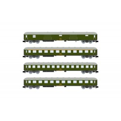 RENFE, 4-unit pack 8000 coaches, green livery, period IV  - Arnold HN4295