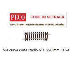 ST-4 Half Curve, 1st Radius (Peco Code 80 Setrack)