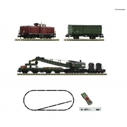Set de iniciación digital z21 start con locomotora diesel 212 y tren de mantenimiento, DB. Fleischmann 931899