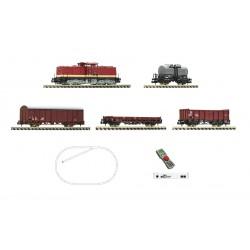 Set de iniciación digital z21 start con locomotora eléctrica serie 110 y tren de mercancías, DB. Fleischmann 931892