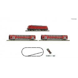 Set de iniciación digital z21 start con locomotora diesel 245 y tren de pasajeros, DB AG. Fleischmann 931897