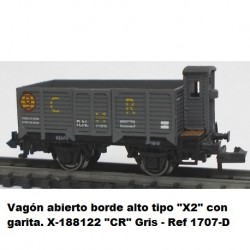 "Ktrain Open wagon high edge type ""X2"" with checkpoint. X-188122 ""CR"" Gray - Ref 1707D"