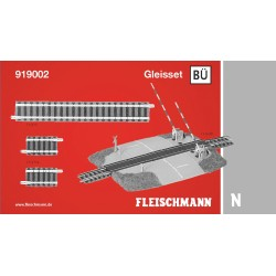 Track Set BÜ, with level crossing. Ref 919002 (Fleischmann N)