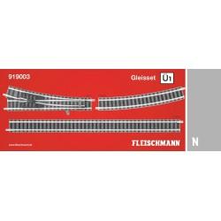 Track Set Ü1, passing track 1. Ref 919003 (Fleischmann N)