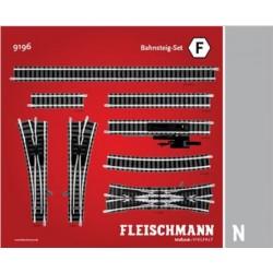 Set F, plataforma estación . Ref 9196 (Fleischmann N Balasto)