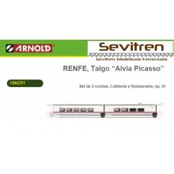 """Talgo Renfe """"Alvia-Picasso"""" Set caf/rest - Arnold HN4291"""