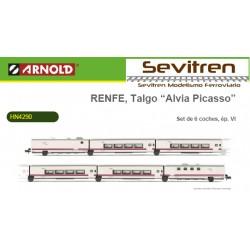 "Talgo Renfe ""Alvia-Picasso"" Set 6 vagones - Arnold HN4290"