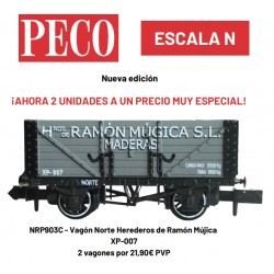 "Set 2 wagons ""Norte Herederos de Ramón Mújica"" XP-007 - Peco NRP903C"