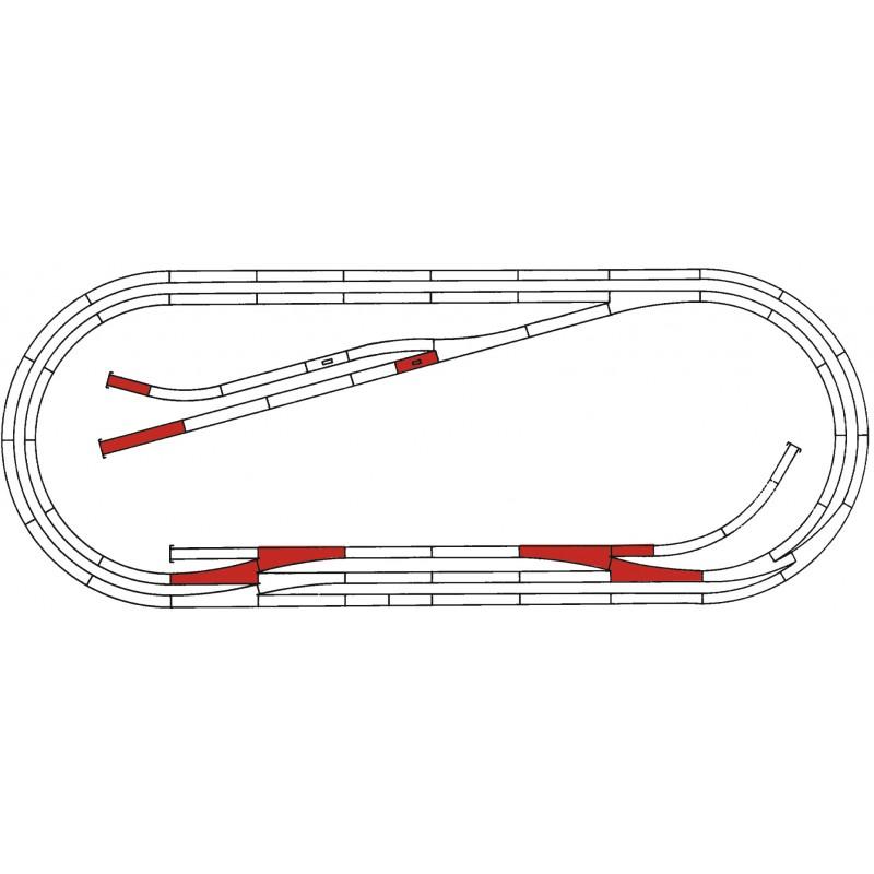 H0, ROCO LINE track set E - Roco 42013