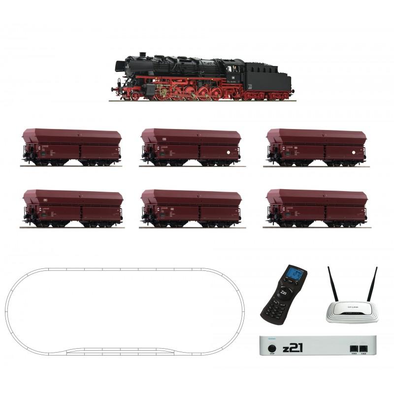H0, Starter Set, digital z21, Steam locomotive class 044 and ore train of the DB - Roco 51337