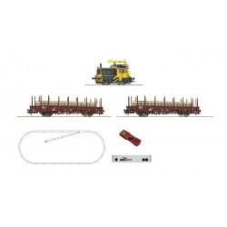 "H0, Starter Set, digital z21, Diesel locomotive ""Sik"" with track maintenance train, NS  - Roco 51333"