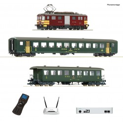H0, Starter Set, digital z21, Electric baggage railcar De 4/4 with passenger train, SBB  - Roco 51338