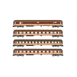 "RENFE, 4-unit pack 8000 coaches, ""Estrella"" livery, period IV   - Arnold HN4296"