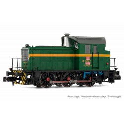 RENFE, diesel shunting locomotive 303-035-0, green/yellow livery, period IV, digital - Arnold HN2510D