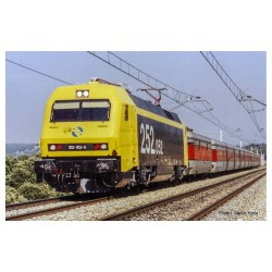 RENFE, electric locomotive 252, yellow/black livery, period V, with DCC decoder- Arnold HN2451D