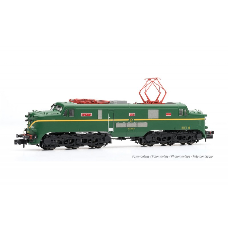 RENFE, electric locomotive 277, green livery, analogic, period IV - Arnold HN2516