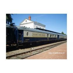 "CIWL, 2-unit pack, 4148 ""Côte d'Azur"" bar + 4160 ""Train Bleu"" salon coach, period V-VI - Jouef HJ4155"