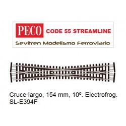 SL-E394F Crossing, Long. Electrofrog. (Peco Code 55 Streamline)