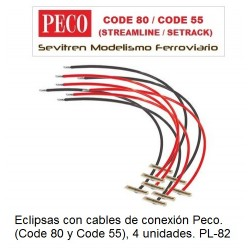 PL-82 Power Feed Joiners (Pack of 8)  Peco. (Code 80-Code 55)