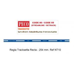 "Tracksetta N Template 10"" Straight - NT10"