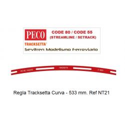"""Tracksetta N Template 21"""" Radius - NT21"""