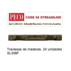 Traviesas de maderas Peco....
