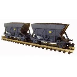 Set 2 wagons Hopper T2 Carbon Renfe Gray, Mabar M-86302