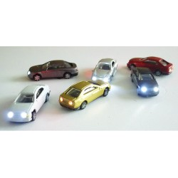Blister 6 plastic cars with...
