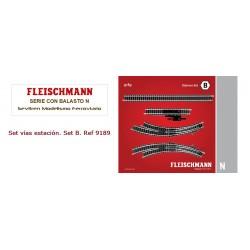Track pack. Station Set B. Ref 9189 (Fleischmann N)