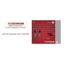 Track pack. Shunter Set C. Ref 9190 (Fleischmann N)