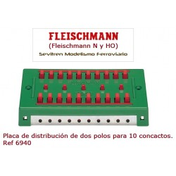 Distributor panel, 2 pole (10 connections). Ref 6940 (Fleischmann N y HO)