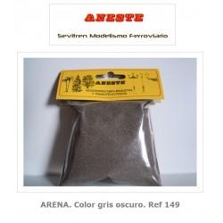 SAND. Dark gray color. Aneste- Ref 149