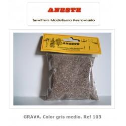 GRAVEL. Medium gray color. Aneste- Ref 103