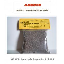 GRAVEL. Heather gray color. Aneste- Ref 107