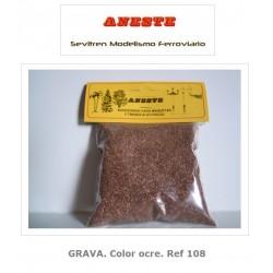 GRAVEL. Ocher color. Aneste- Ref 108