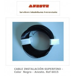 INSTALLATION CABLE 10 METERS SUPERFINE - Black color - Aneste. Ref 6015