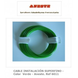 INSTALLATION CABLE 10 METERS SUPERFINE - Green Color - Anest. Ref 6011