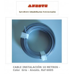 INSTALLATION CABLE 10 METERS - Gray color - Aneste. Ref 6005